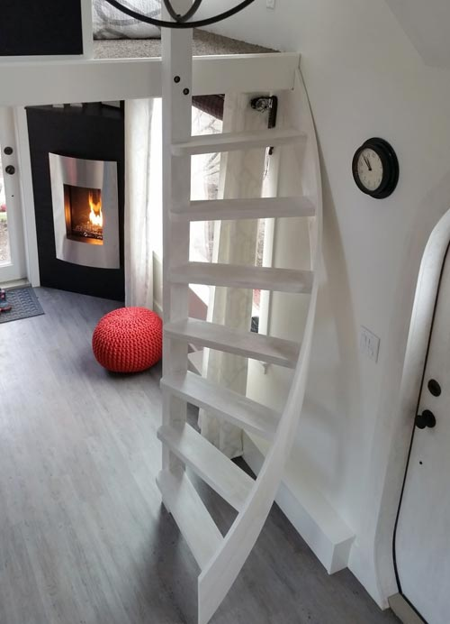 Spiral Stairwell - Esket Tiny House