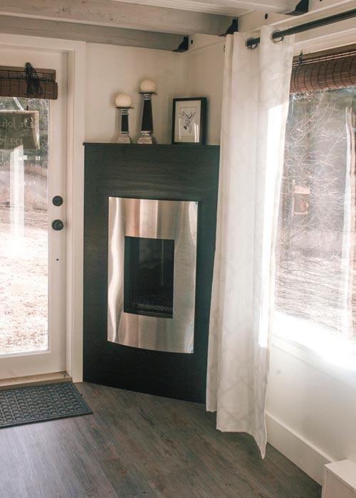 Propane Corner Fireplace - Esket Tiny House