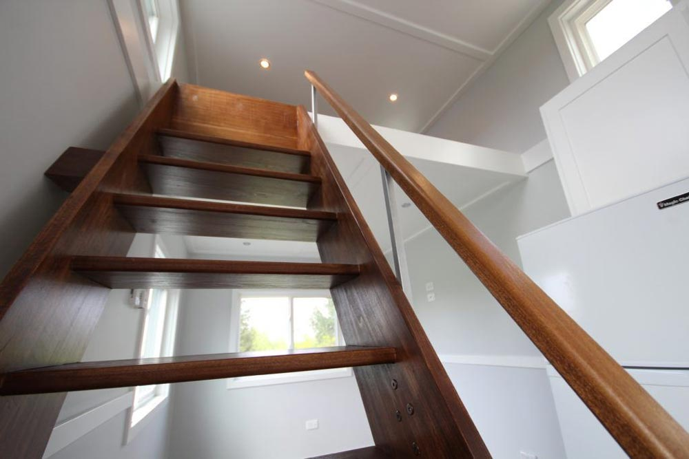 Loft Stairs Detail - Everest by Titan Tiny Homes