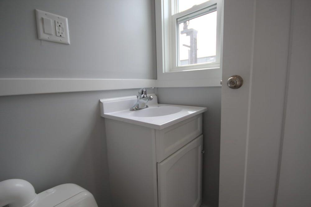 Bathroom Sink & Window - Everest by Titan Tiny Homes