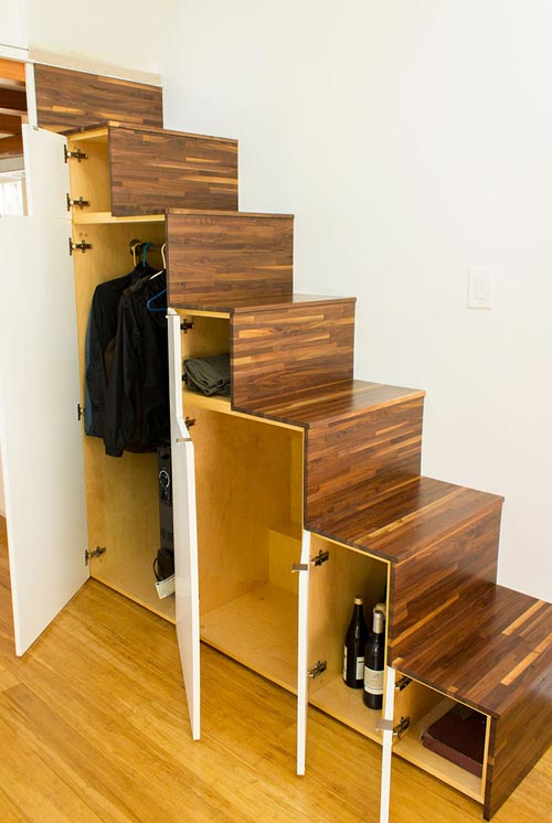 Tansu Stairs w/ Storage - Hikari Box by Shelter Wise