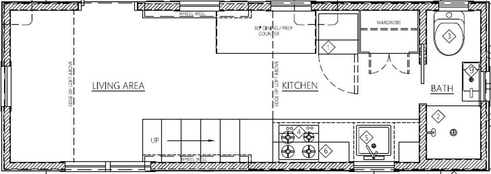 Floor Plan - Hikari Box by Shelter Wise