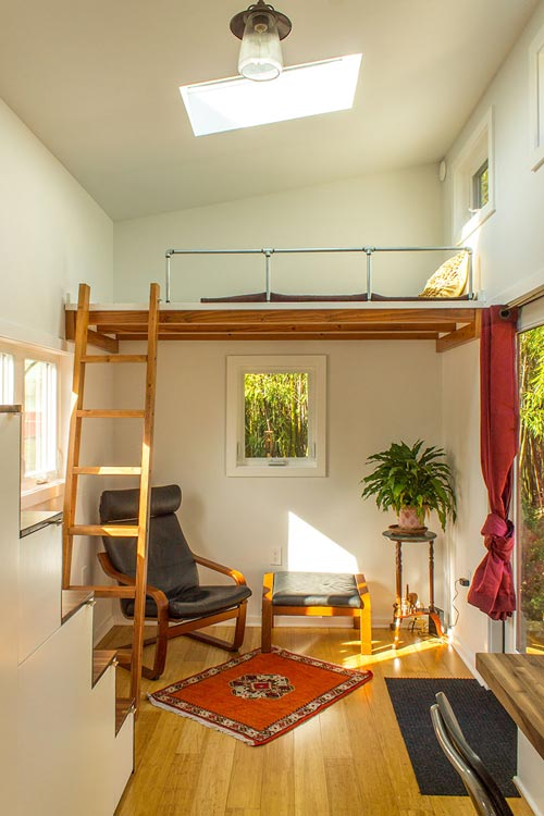 Living Area & Guest Loft - Hikari Box by Shelter Wise