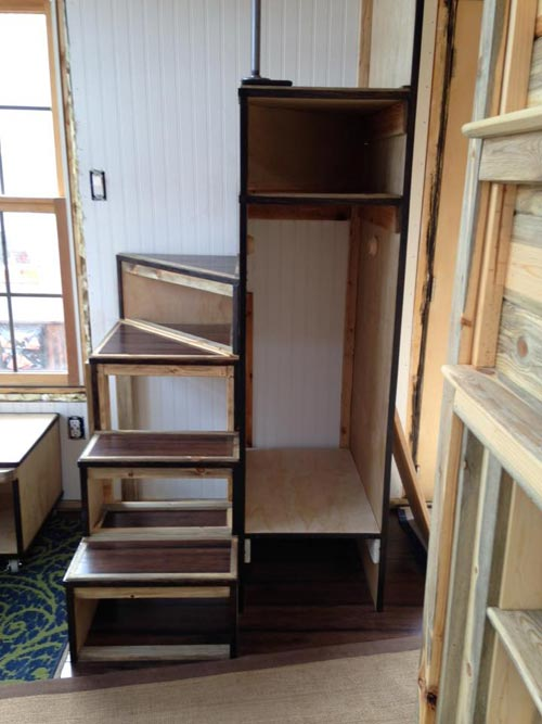 Storage Stairs - Nautical Mountain House by Jeremy Matlock