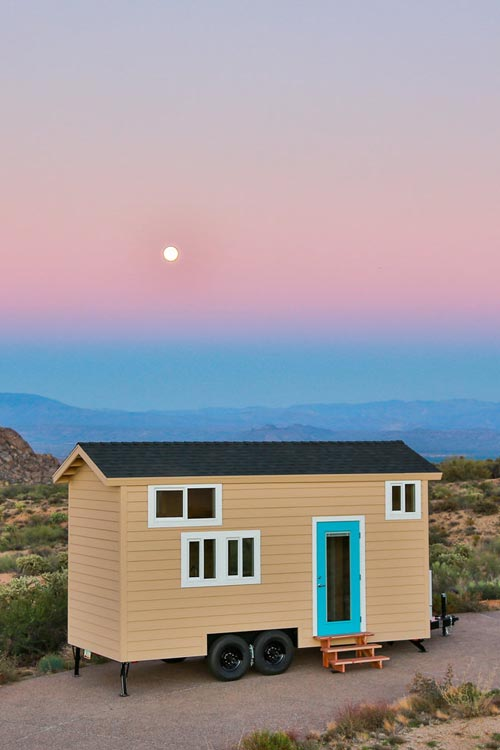 Tiny House at Sunset - Mansion Jr by Uncharted Tiny Homes