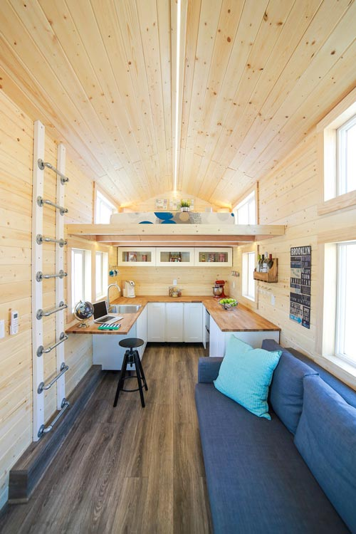 Living Room & Kitchen - Mansion Jr by Uncharted Tiny Homes