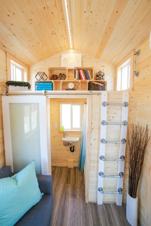 Storage Loft & Bathroom - Mansion Jr by Uncharted Tiny Homes