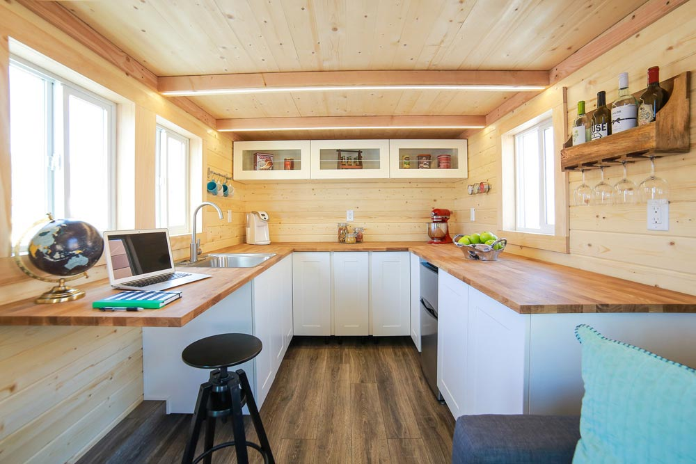U-Shaped Kitchen - Mansion Jr by Uncharted Tiny Homes