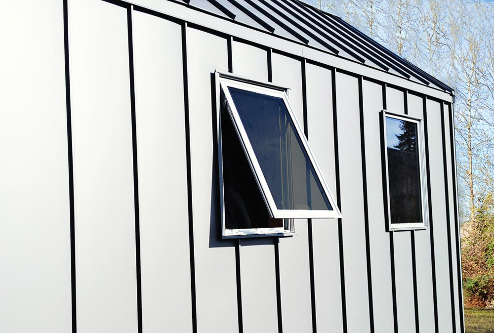 Exterior Metal Wall Detail - Miter Box by Shelter Wise