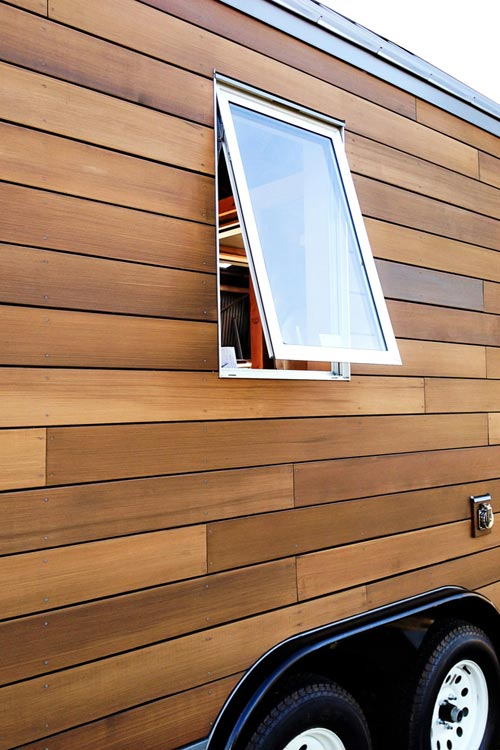 Exterior Wood Wall - Miter Box by Shelter Wise