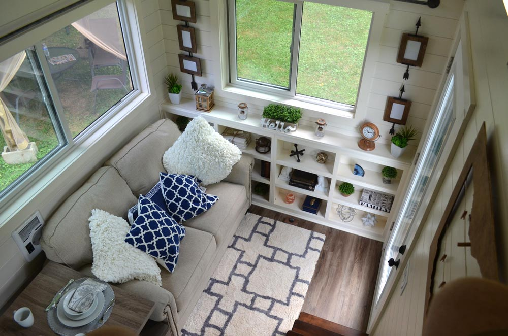 Aerial View of Living Room - Mohican by Modern Tiny Living
