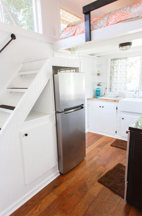 Kitchen w/ Apartment Refrigerator - Music City by Tennessee Tiny Homes