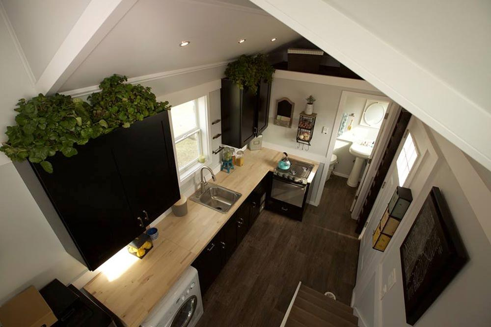 Aerial View of Kitchen - Notarosa by Titan Tiny Homes