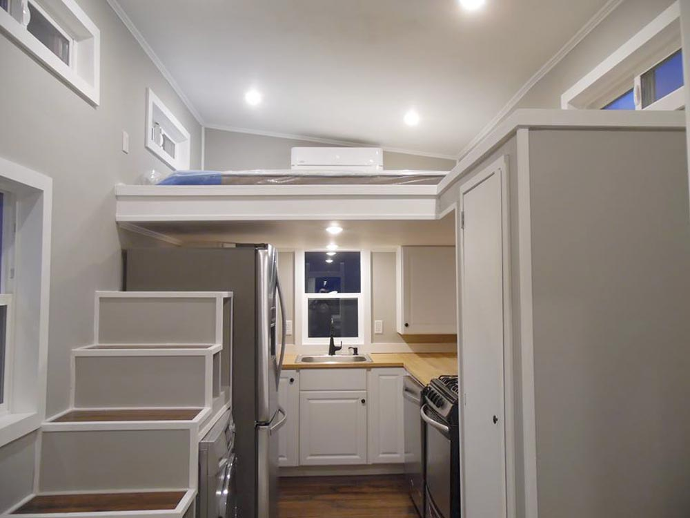 Kitchen & Stairs - 18' Off Grid by Upper Valley Tiny Homes