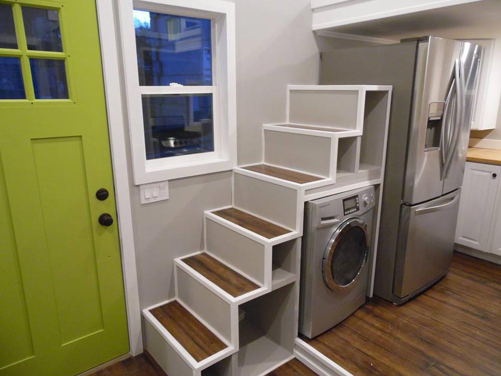 Storage Stairs - 18' Off Grid by Upper Valley Tiny Homes