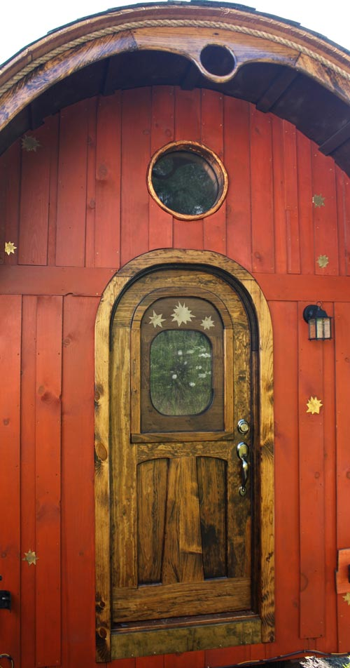 Custom Entry Door w/ Window - Old Time Caravan by The Unknown Craftsmen