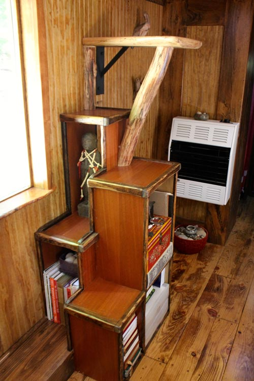 Mahogany Storage Stairs - Old Time Caravan by The Unknown Craftsmen