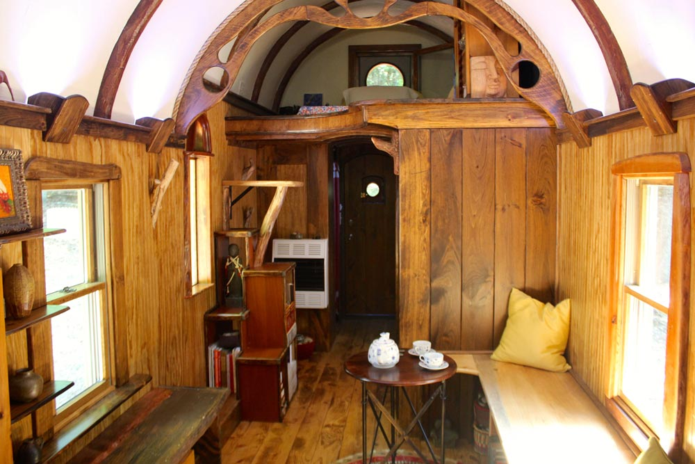Living Area - Old Time Caravan by The Unknown Craftsmen