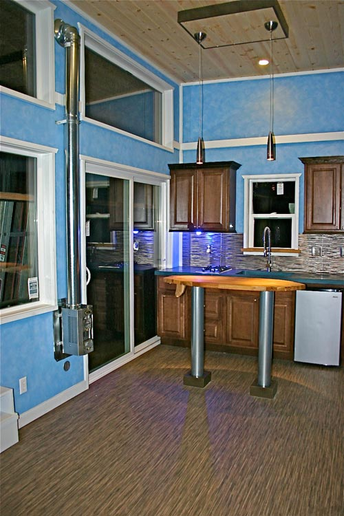 Kitchen and Sliding Glass Door - Surf Shack by Molecule Tiny Homes
