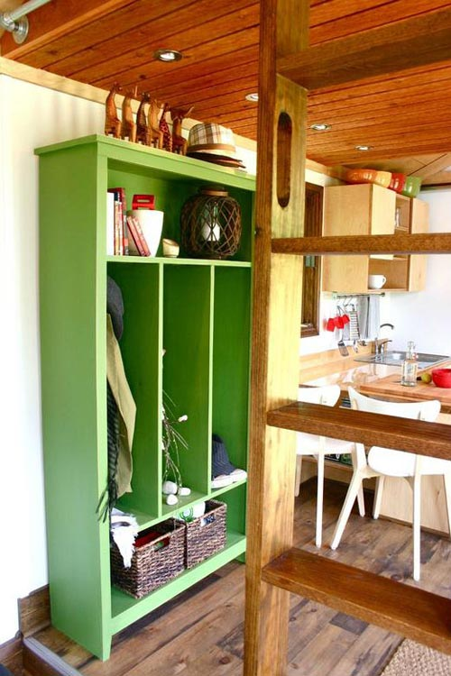 Storage Area - Tall Man's Tiny House