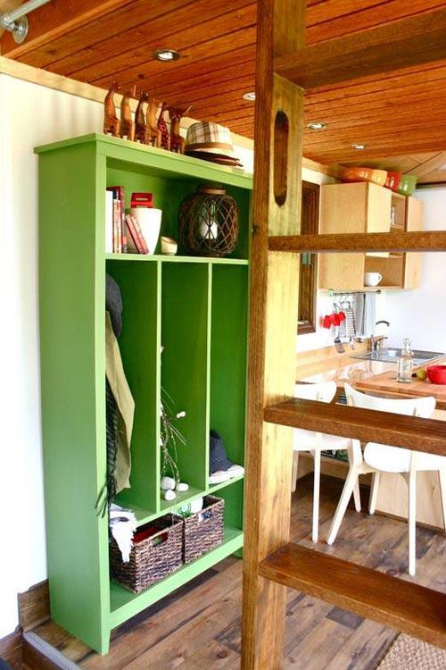Storage Area - Tall Man's Tiny House