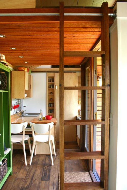 Loft Ladder - Tall Man's Tiny House
