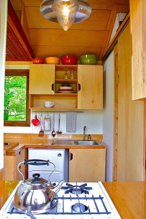 Range & Refrigerator - Tall Man's Tiny House
