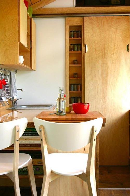 Kitchen Area - Tall Man's Tiny House