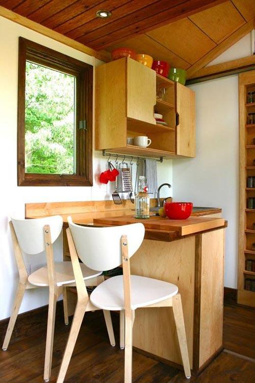 Breakfast Counter - Tall Man's Tiny House