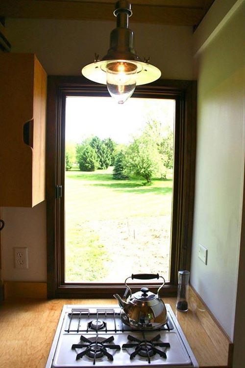 Kitchen Window - Tall Man's Tiny House