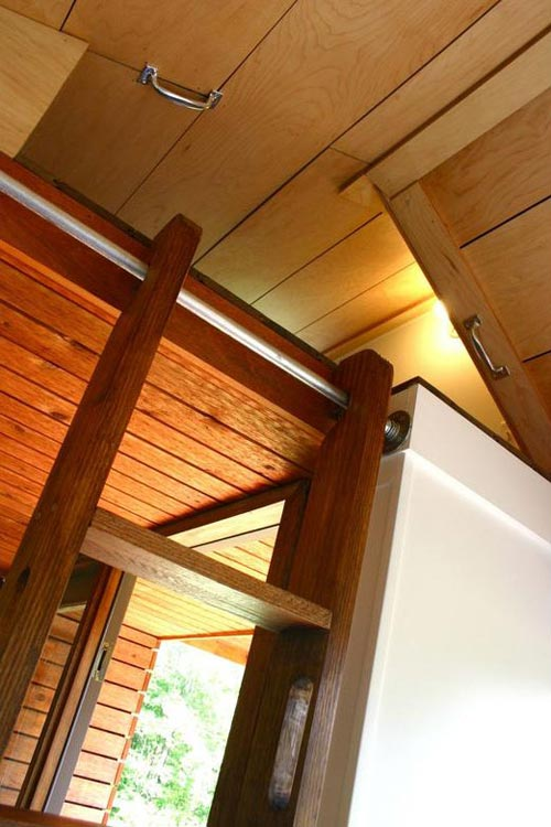 Loft Ladder Detail - Tall Man's Tiny House