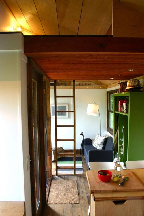 View From Kitchen - Tall Man's Tiny House