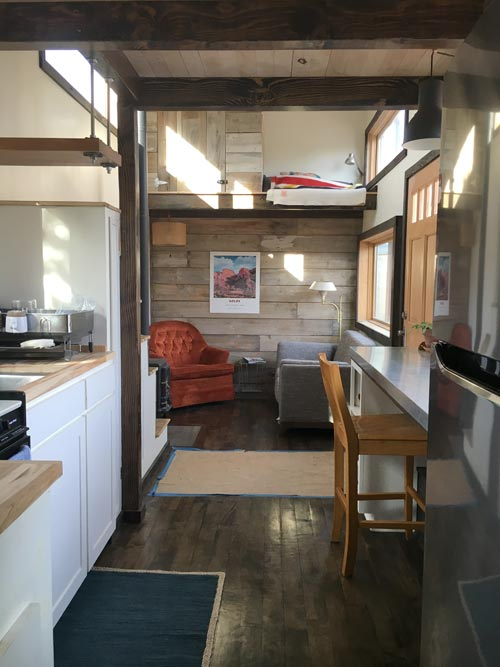 Living Area - Tanlers Tiny House