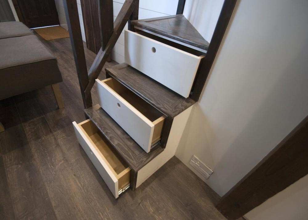 Storage Stairs - Tiffany by A New Beginning Tiny Homes