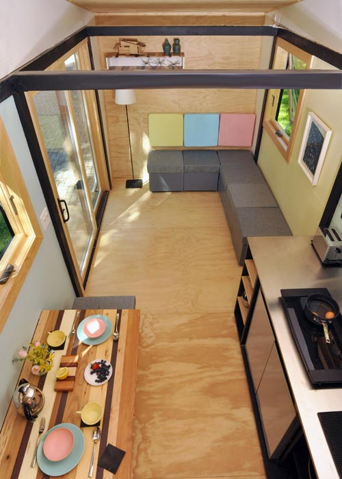 View From Bedroom Loft - Toy Box Tiny Home
