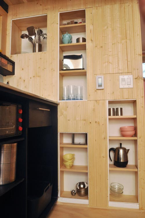 Hidden Wall Pantry - Toy Box Tiny Home