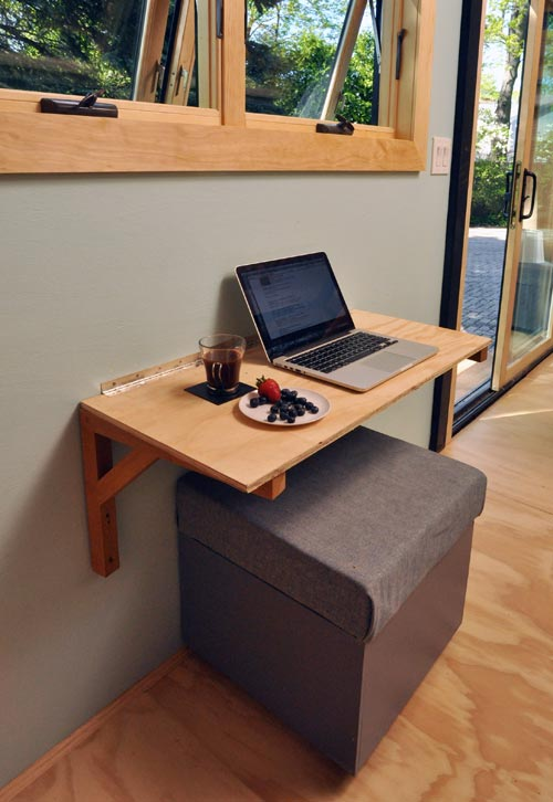 Fold Down Desk - Toy Box Tiny Home