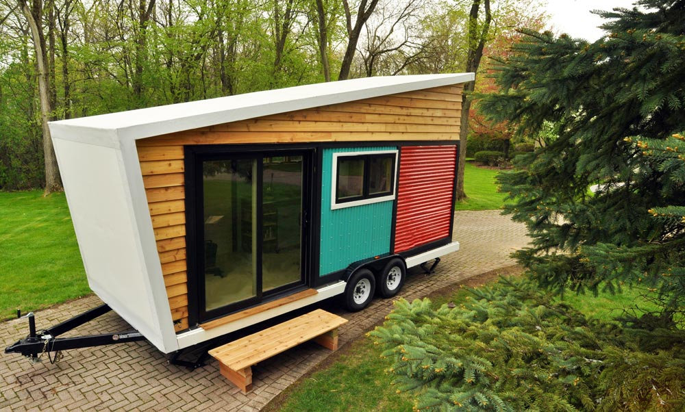 White Thermoplastic Roof - Toy Box Tiny Home