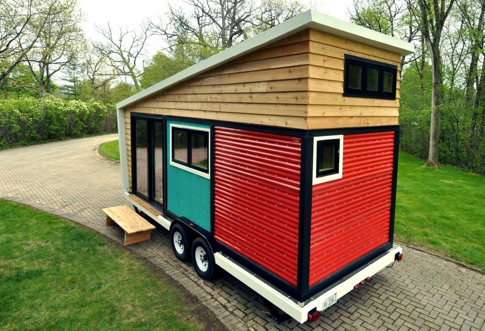 Corrugated Fiberglass Exterior - Toy Box Tiny Home