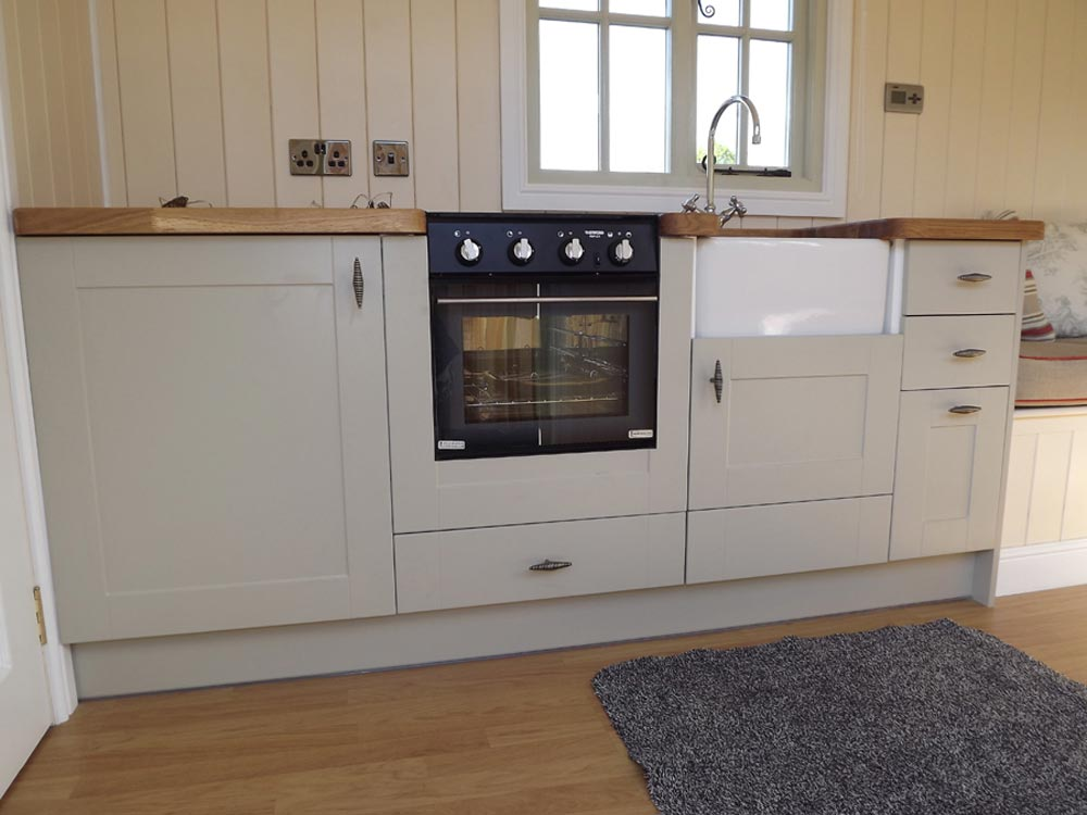 Kitchen Cabinets - Wall Bed Hut by Riverside Shepherd Huts