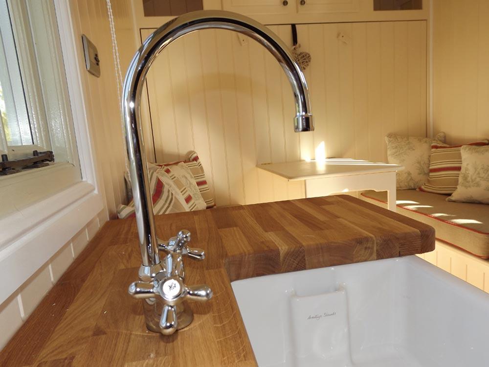 Kitchen Sink & Faucet - Wall Bed Hut by Riverside Shepherd Huts