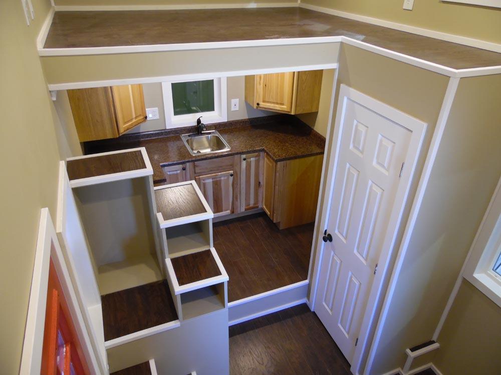 Closet & Storage Stairs - Birchwood by Upper Valley Tiny Homes