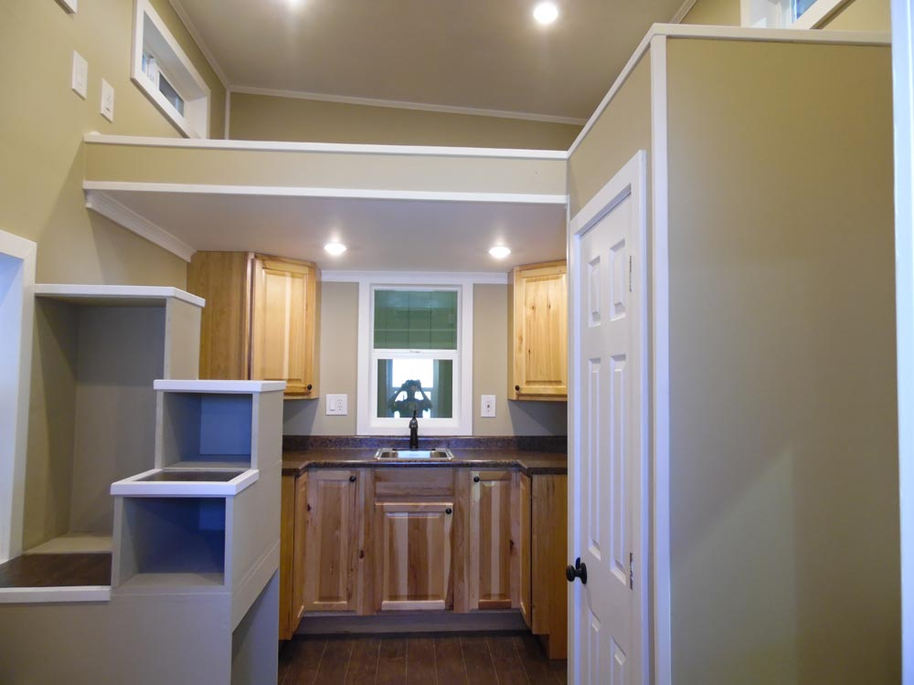 Closet & Kitchen - Birchwood by Upper Valley Tiny Homes
