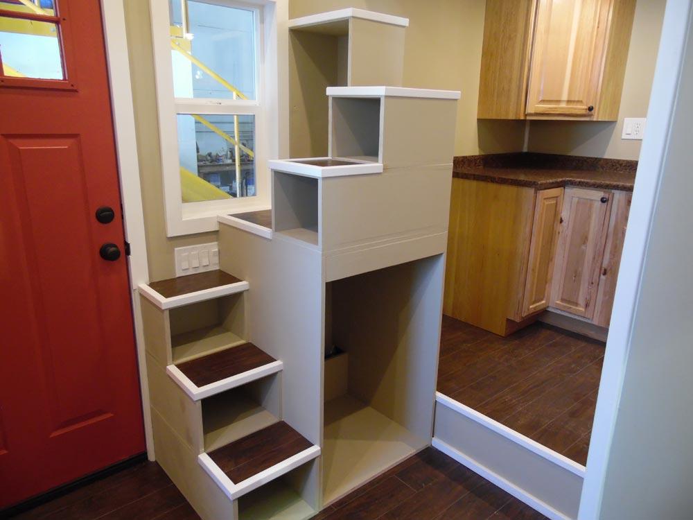 Storage Stairs - Birchwood by Upper Valley Tiny Homes