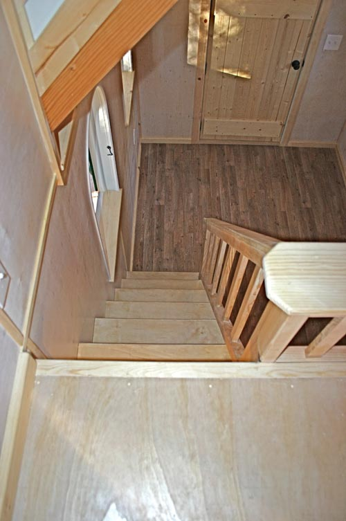 View Down Stairs - Chalet by Molecule Tiny Homes