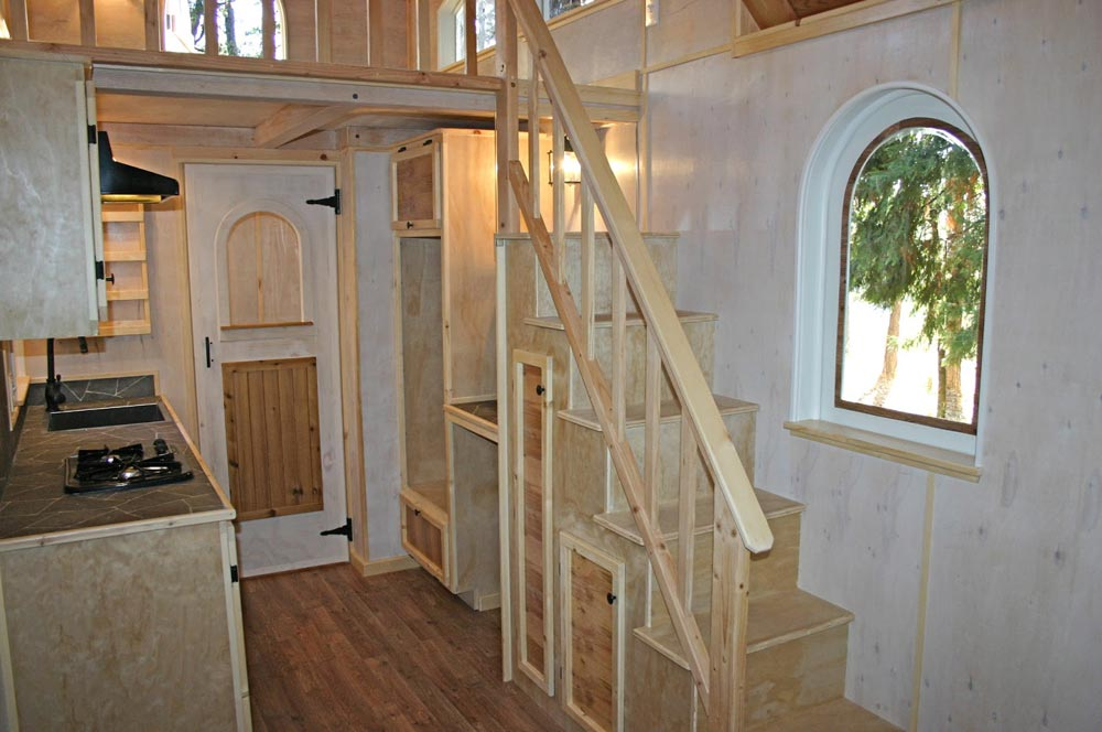 Storage Stairs - Chalet by Molecule Tiny Homes