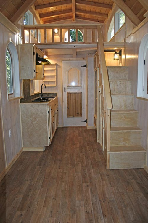 Kitchen & Stairs - Chalet by Molecule Tiny Homes