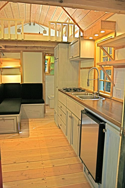 Kitchen & Living Area - Charwood Cabin by Molecule Tiny Homes