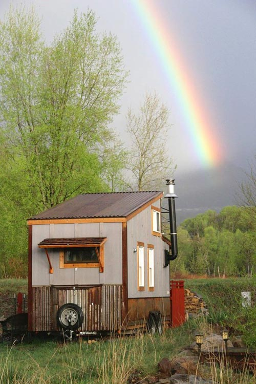 Tiny House with Rainbow - Clearstory by Jeremy Matlock