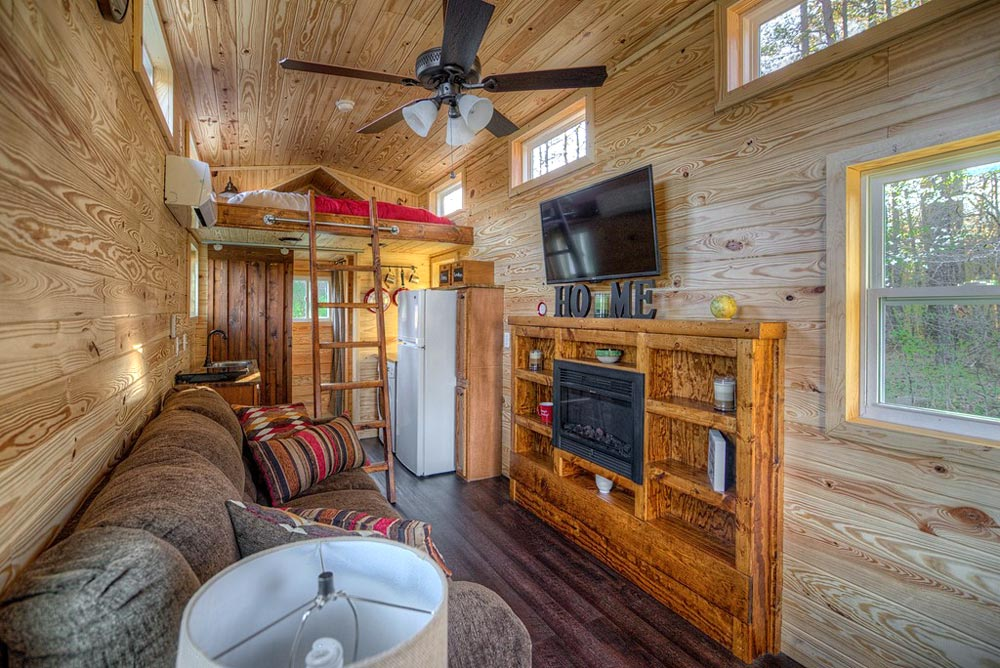 Built-In Entertainment Center - Dreamer by Alabama Tiny Homes